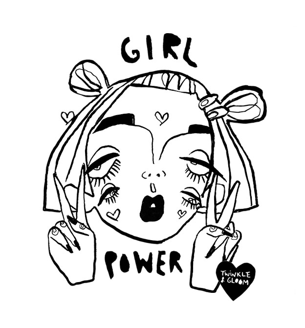 black and white girl power