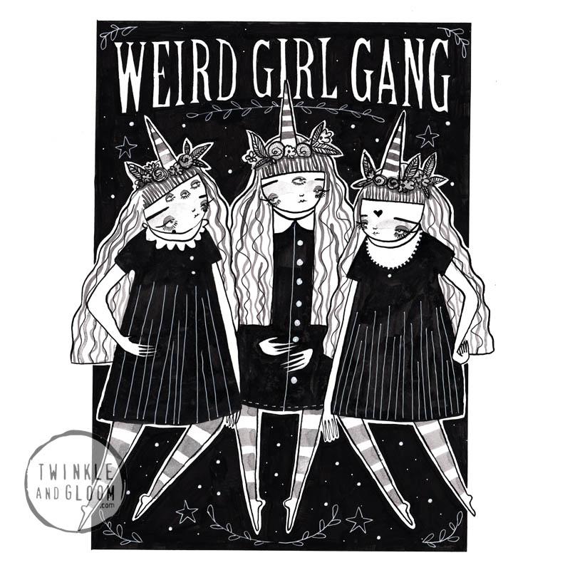 weird girl gang web